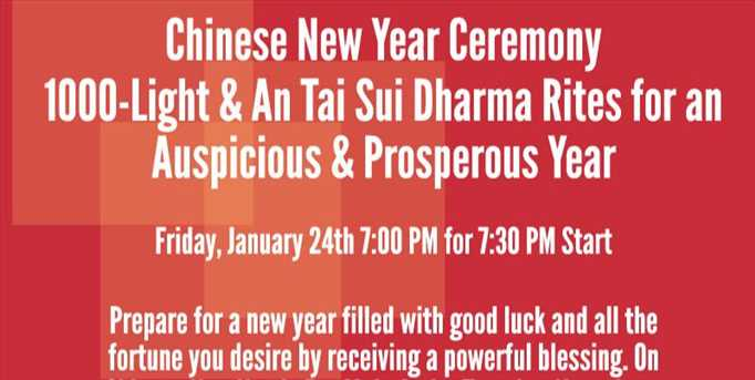 Chinese New Year Ceremony 1000-Light & An Tai Sui Dharma Rites for an Auspicious & Prosperous Year