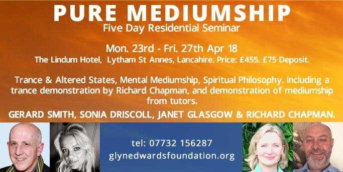 Pure Mediumship - Five day residential Development Course