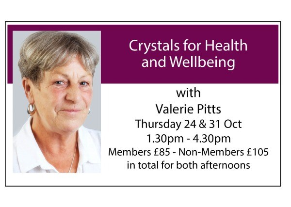 Crystals for Health and Wellbeing: 24th and 31st October