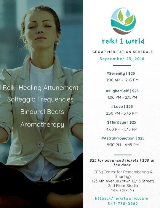 Reiki 1 World Healing Meditation Experience