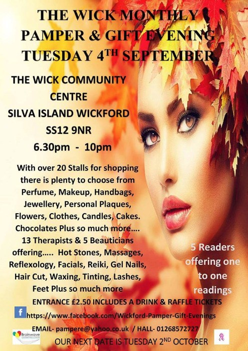 Wick Monthly Pamper & Gift Evening