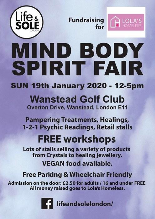 Mind Body Spirit Fair 19th Jan 2020 £2.50 Entrance pay on day