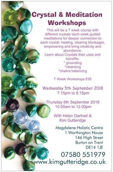 Crystal Workshops with Meditation