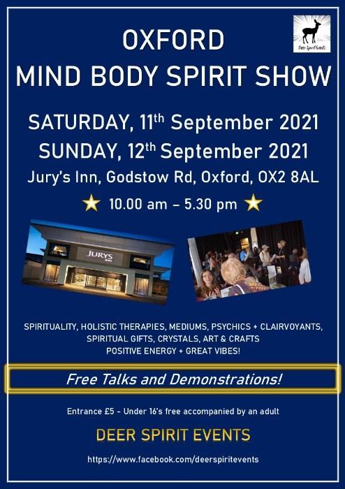 Oxford Mind Body Spirit Weekend.