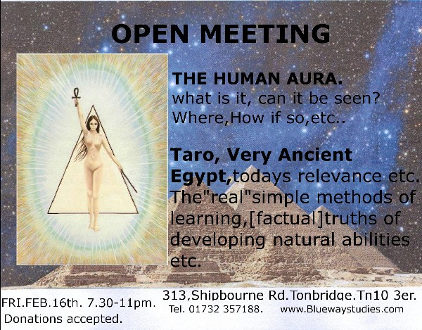 The Human Aura. What is it, can it be seen? - Open Meeting
