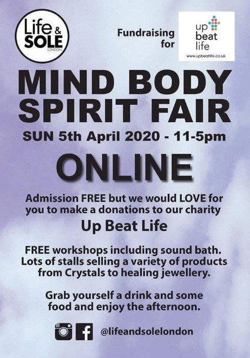 Online Mind Body Spirit Fair 5th April 2020