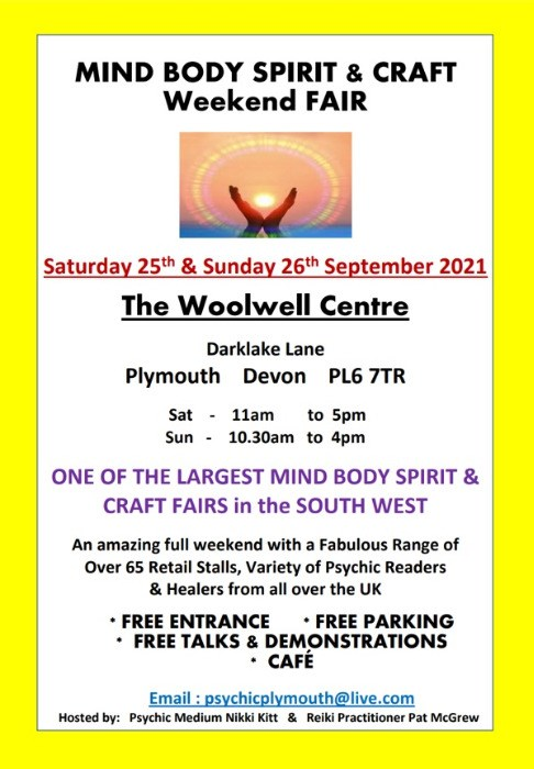 Mind Body Spirit & Craft Weekend Fair ONE OF THE LARGEST IN THE SOUTHWEST