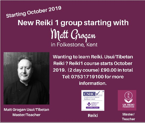 Reiki 1 Training Group - Folkstone