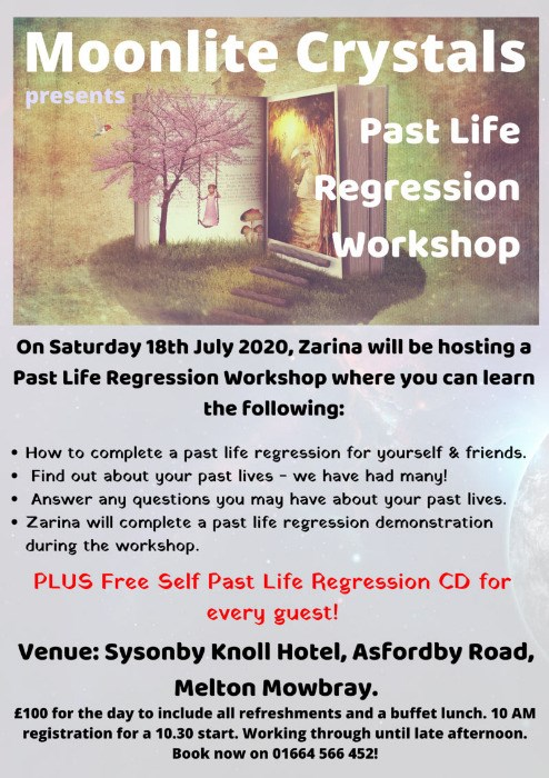 Past Life Regression Workshop - Sat. 18th July 2020