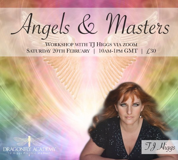 Angels & Masters Workshop -  Saturday 20th February 2021 - 10AM - 1PM UK Time - £30