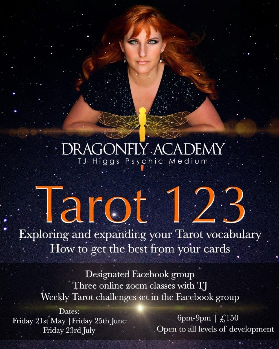 TJ Higgs - Online Tarot 123 Workshop - Friday 21st May, Friday 23rd June, Friday 23rd July - 6PM - 9PM