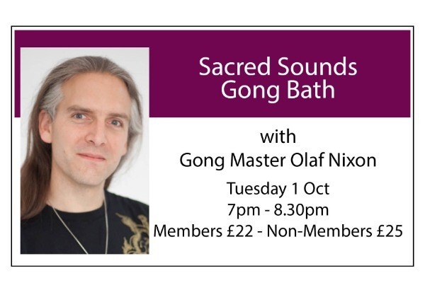 Sacred Sounds Gong Bath - October