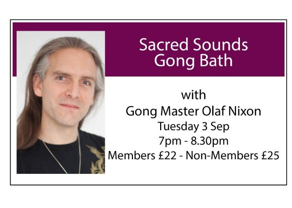 Sacred Sounds Gong Bath - September