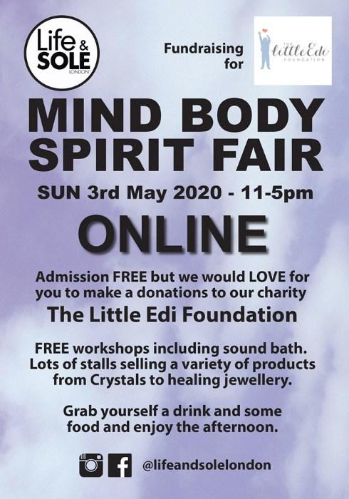 Online Mind Body Spirit Fair 3rd May 2020