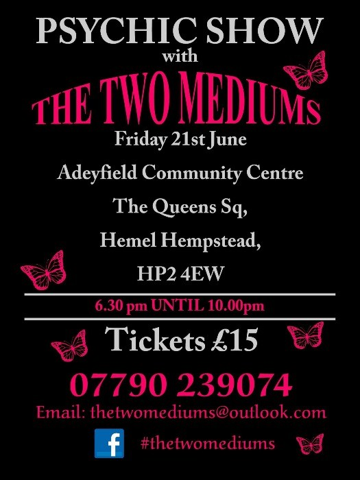 ** PSYCHIC SHOW in Hemel Hempstead ** An Evening of Mediumship with The Two Mediums    Jo Bradley & Lesley Mannint